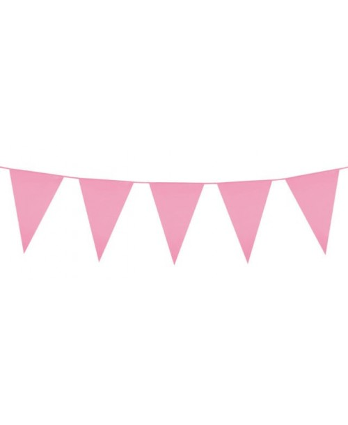 GIRLANDA różowa FLAGI urodziny impreza baner 5m