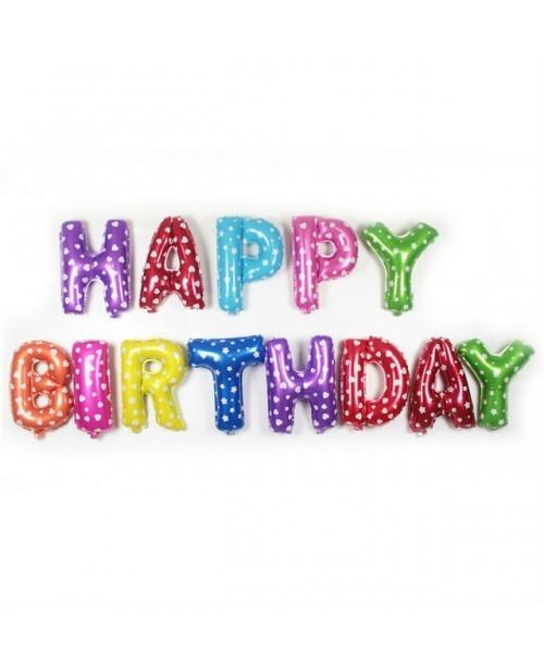 BALONY FOLIOWE Happy Birthday Urodziny Kropki 40cm