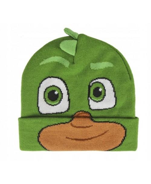 PJMASKS czapka zimowa PIDŻAMERSI GEKSON green