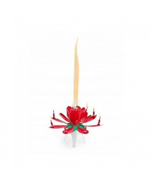 FONTANNA TORTOWA grająca KWIATEK świeczki