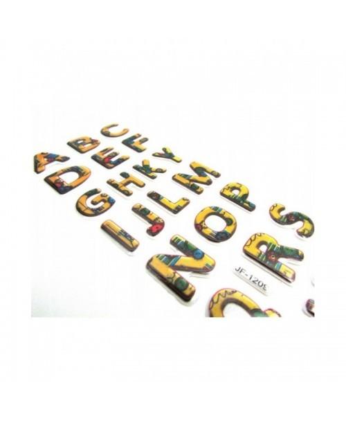 LITERKI naklejki piankowe 3D KOLOROWE motywacyjne