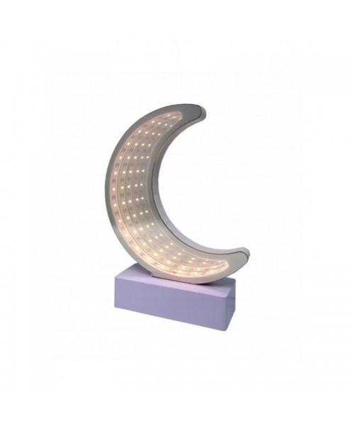 KSIĘŻYC LED tunel design LUSTRO lampka nocna 3D