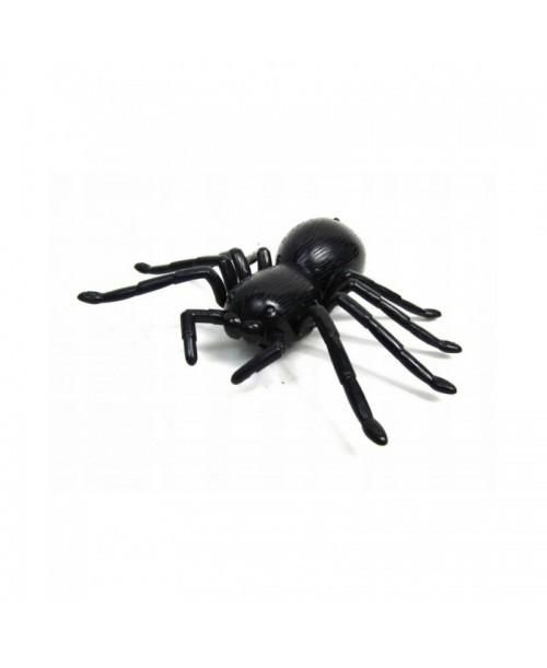 PAJĄK czarny TARANTULA spider NA PILOT chodzi