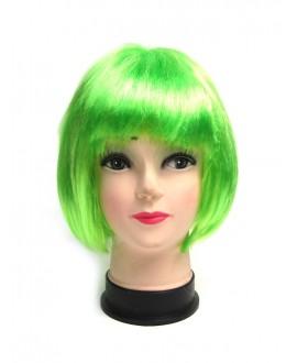 Zielona krótka peruka z grzywką