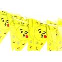 Żółta girlanda trójkątne flagi emoji 3m