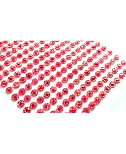 330 szt. naklejki PEARL diamenciki samoprzylepne 3D różowe