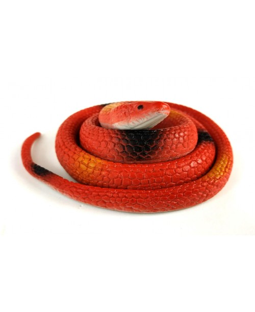 Czerwony rozciągliwy wąż gumowa mamba do zabawy