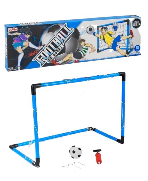 Bramka piłkarska dla dziecka ZESTAW piłka pompka 65 cm