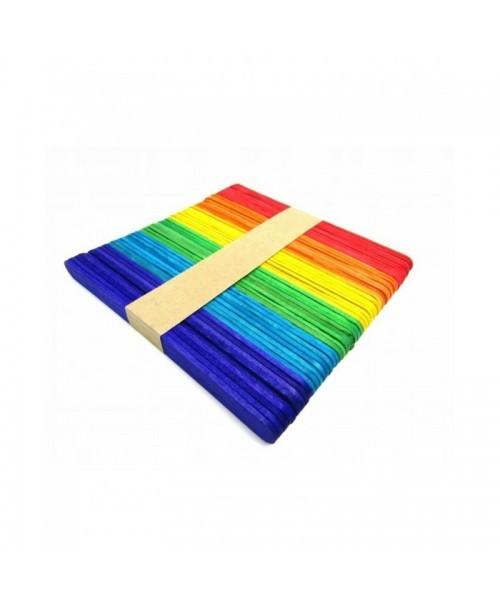 Kolorowe drewniane SCRAP patyczki 50szt 6cm