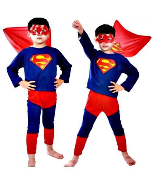 SUPERMAN strój PRZEBRANIE karnawałowe 122-134cm L