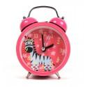 Zegarek Dziecięcy Z BUDZIKIEM Różowy Zebra Stojący