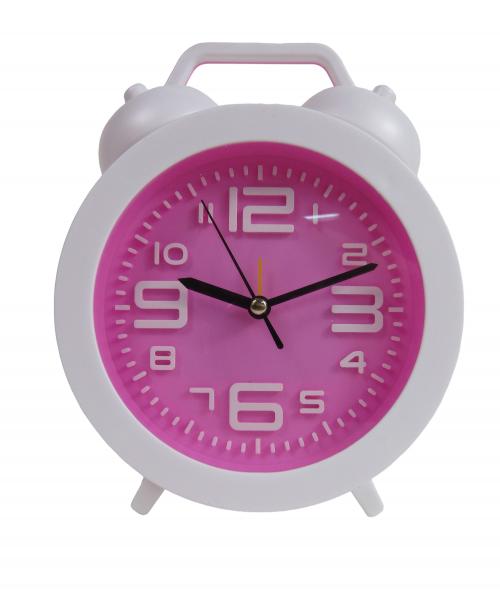 Biały Zegarek Z Budzikiem Stojący Nowoczesny
