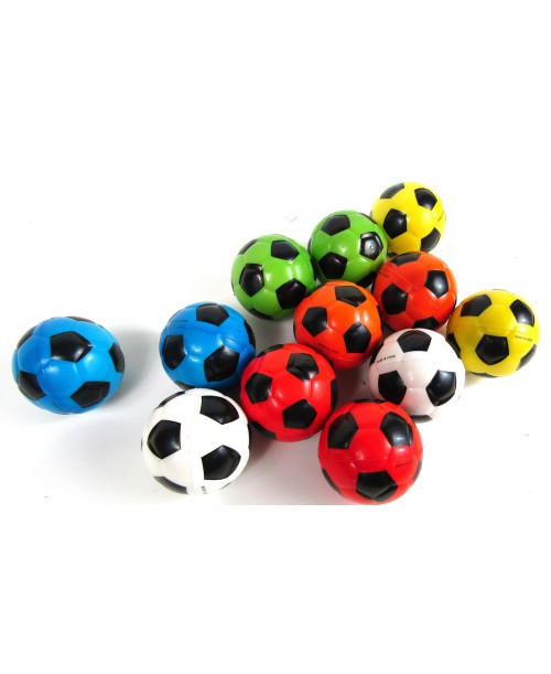 Piłeczki antystresowe football piłka nożna 6cm 12szt.