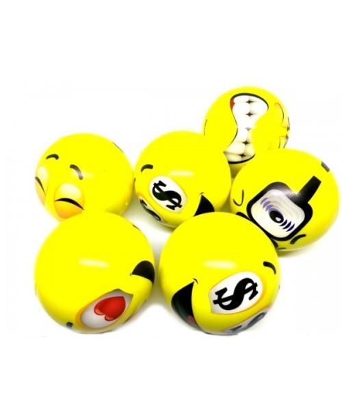 PIANKOWE antystresowe piłki EMOJI 6 szt. 10cm