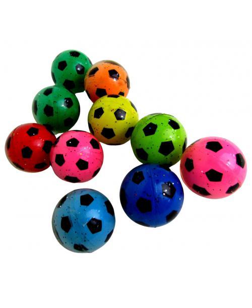 10 szt. Skaczące brokatowe piłeczki kauczukowe piłka nożna 5,5 cm