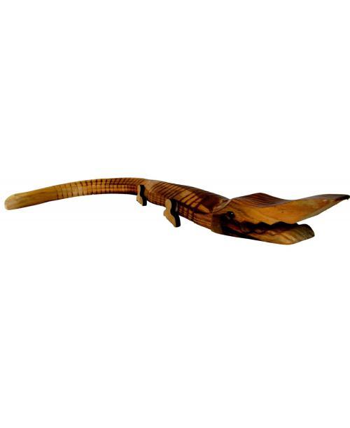 DREWNIANY krokodyl zabawka 40 cm