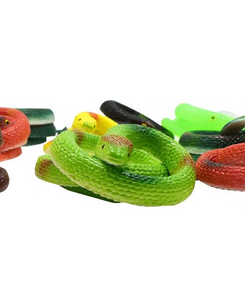 GUMOWY Snake WĄŻ kobra zabawka rozciągliwy