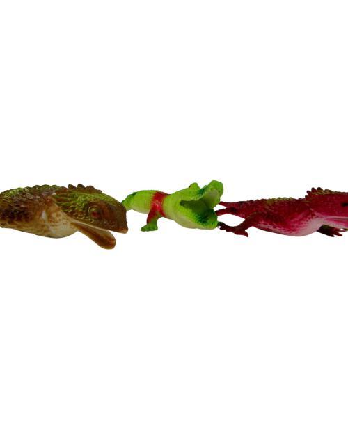 6szt. Jaszczurki Gumowe Kolorowe Zwierzątka Gady
