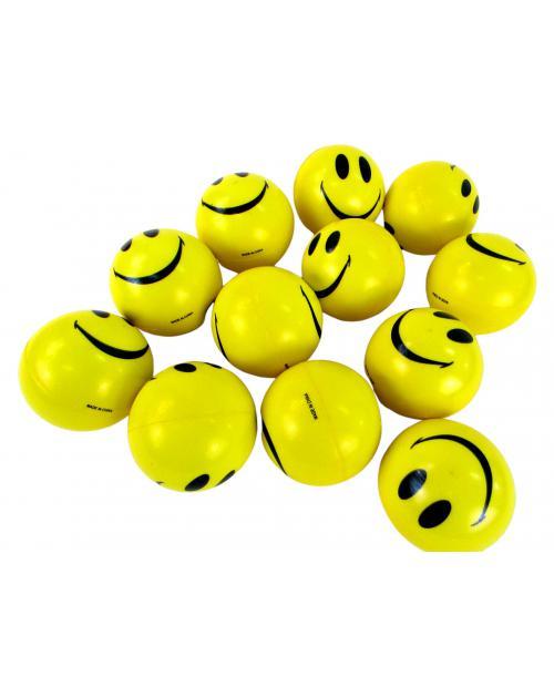 Piankowe Piłeczki Antystresowe emoji SMILE uśmiech 6cm 12szt .