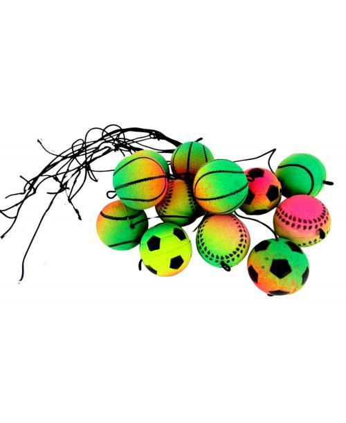 10 sztuk Piłka na gumce JOJO YOYO antystresowa 4,5 cm