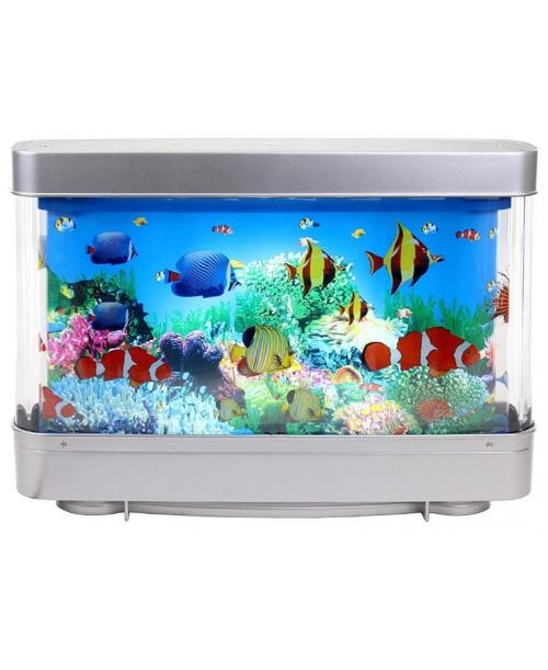 LAMPKA nocna AKWARIUM rybki RUCHOMY OBRAZ 3D