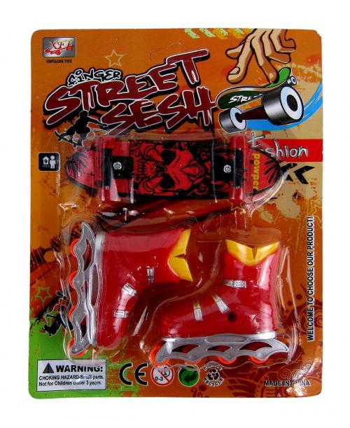 ZESTAW 2w1 fingerboard mini deskorolka + ROLKI