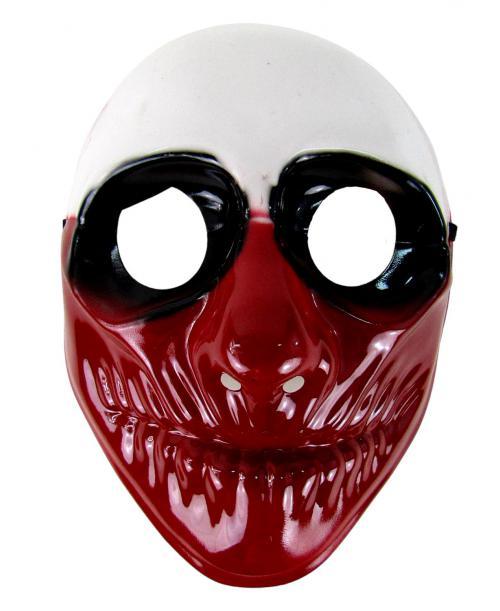 Maska karnawałowa bordowo- biała