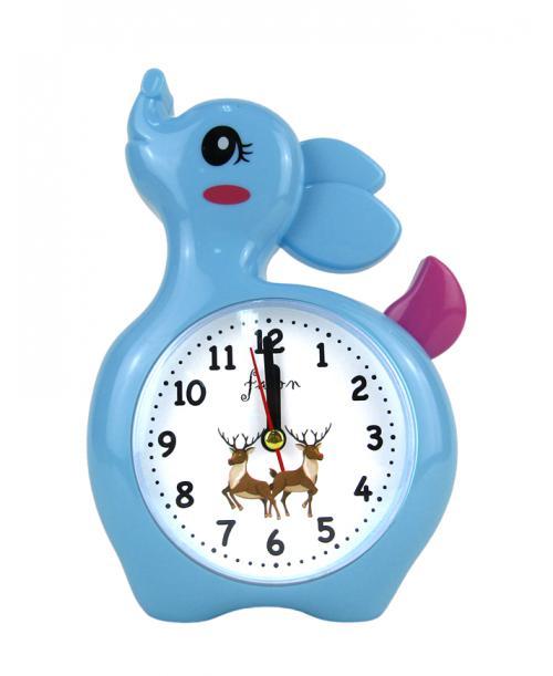 Niebieski budzik zegarek sarna