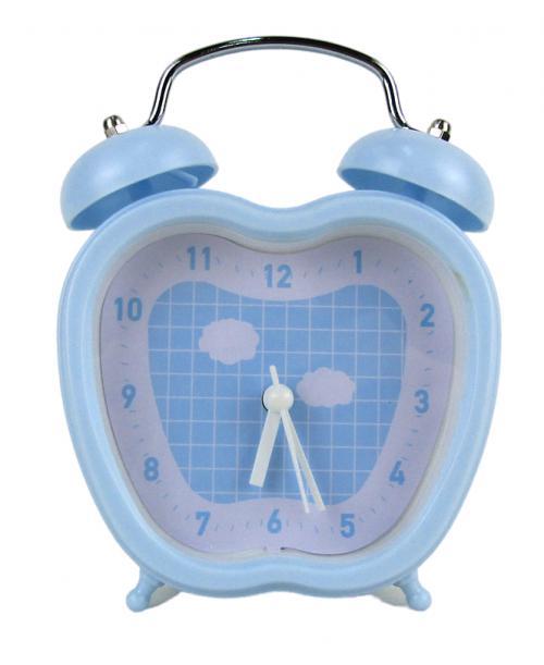 Niebieski  budzik zegarek w kształcie jabłka