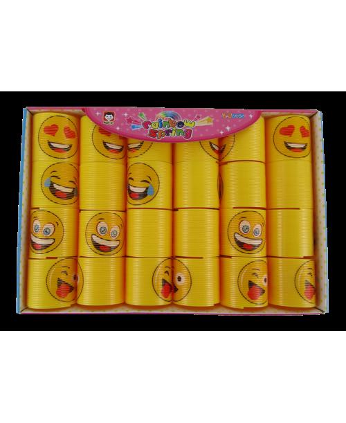 Żółte rozciągliwe sprężynki emoji  24 szt.