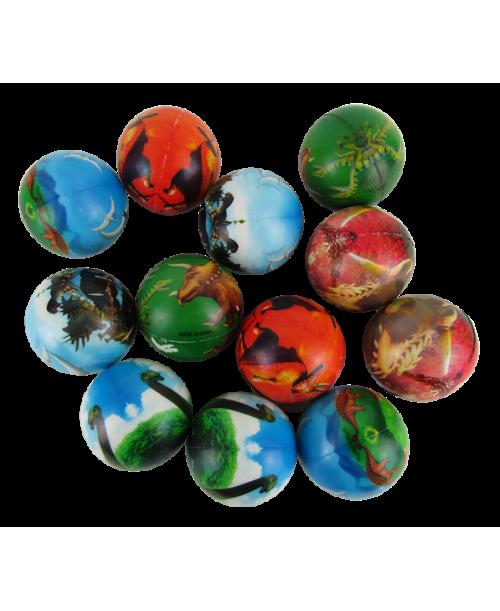 Piłki piankowe antystresowe dinozaury 7cm
