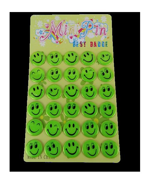 Odblaskowe przypinki emoji 4,5 cm pakiet 30 szt.