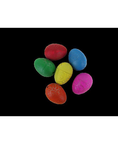Jajka jajo wykluwające się rosnące dinozaury 6 szt. 4cm