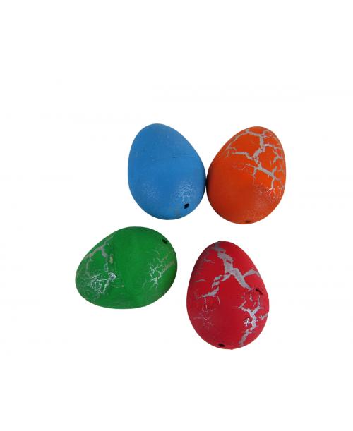 Jajka jajo wykluwające się rosnące dinozaury 4 szt. 6cm