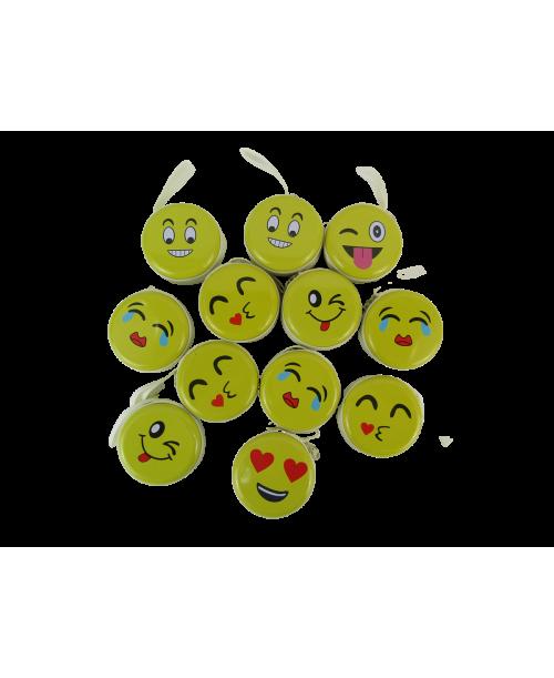 Metalowe okrągłe portfeliki emoji 12 szt.