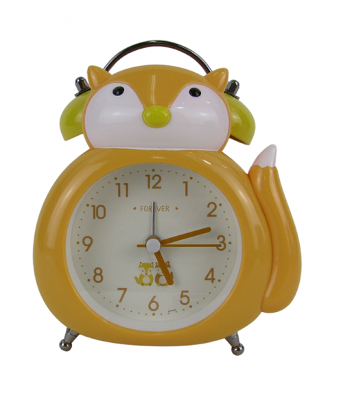 Zegarek budzik stojący lisek płynący mechanizm