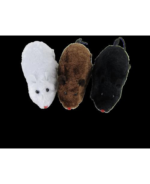 Jeżdżące nakręcane myszy 3 szt.