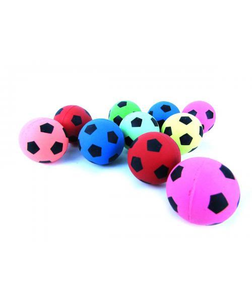 Skaczące piłeczki kauczukowe piłka nożna 4 cm 10 szt.