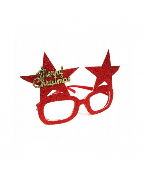 OKULARY świąteczne MERRY CHRISTMAS brokatowe