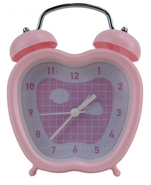 Zegarek z budzikiem RÓŻOWY w kształcie jabłka