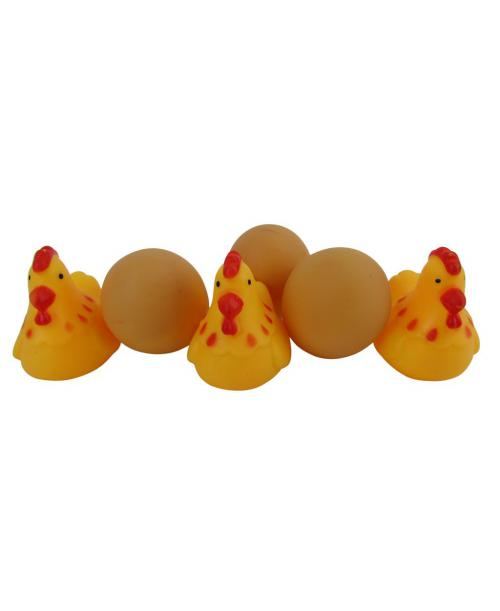 5szt. zabawki do kąpieli KURA JAJKO