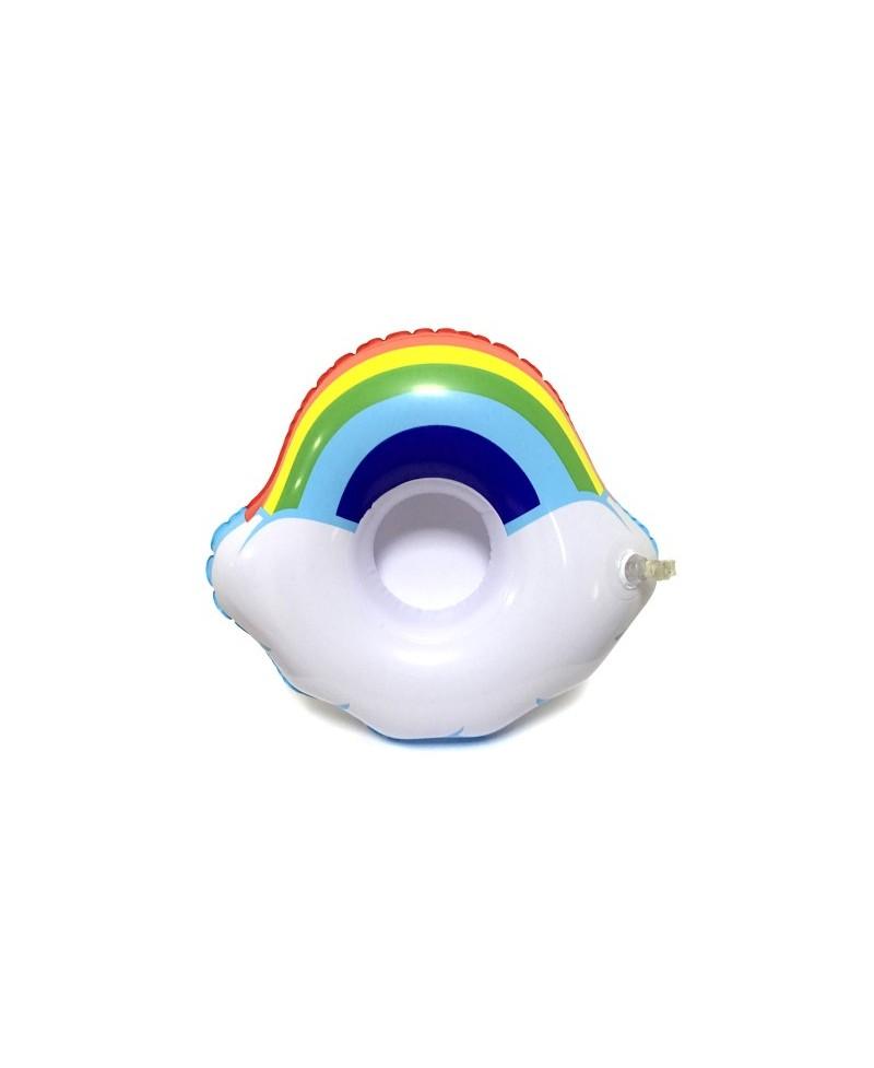 TĘCZA Rainbow Dmuchany uchwyt PUSZKA Drink Napój