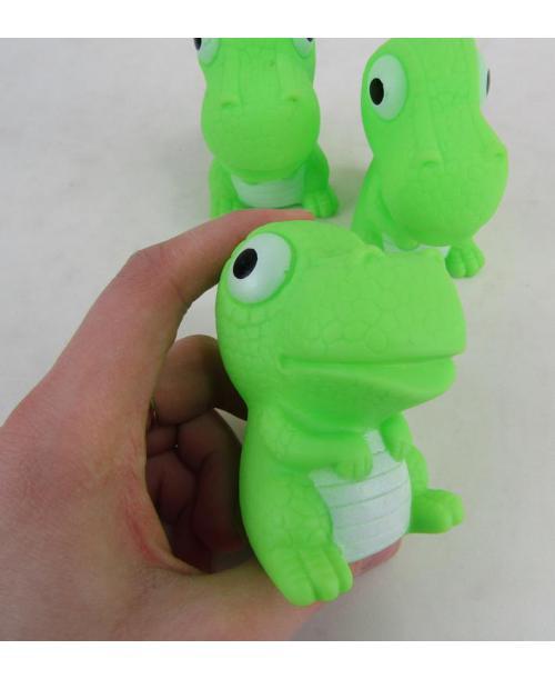 3 x gumowy dinozaur zabawka do kąpieli piszcząca