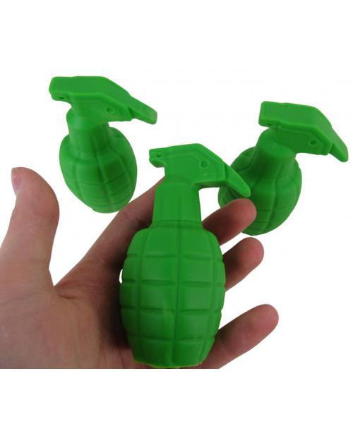 3 x gumowy granat zielony zabawka do kąpieli piszcząca