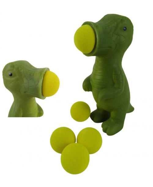 Pistolet na kulki piankowe sprężone powietrze dinozaur