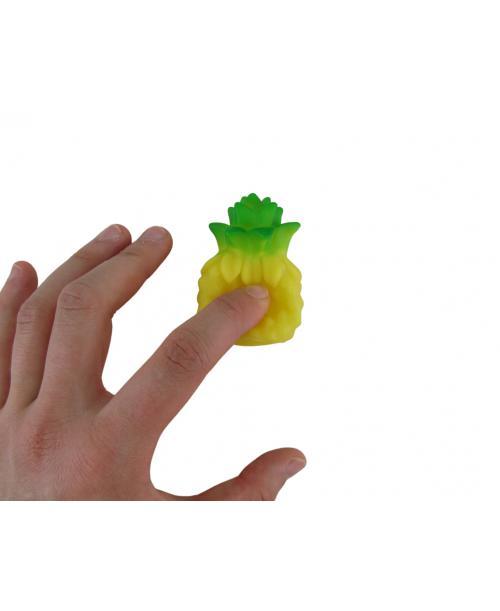 Gumowe piszczące ananasy do kąpieli dla dzieci 10 szt.