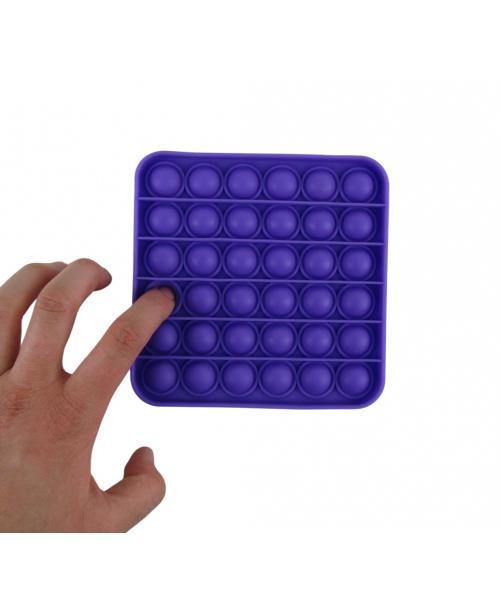 Push pop it bubble fidget  zabawka antystresowa sensoryczna fioletowy kwadrat