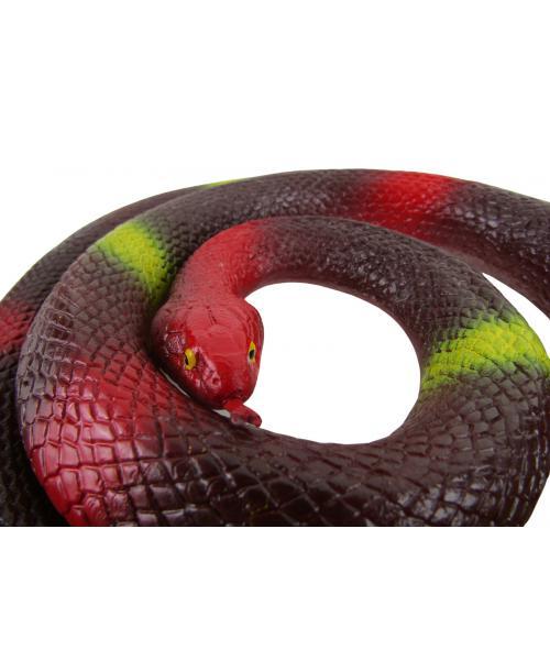 Czerwony rozciągliwy wąż gumowa mamba do zabawy WIELKI XXL