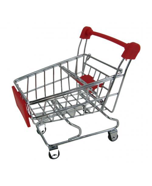 Wózek Sklepowy dla lalek na zakupy 12 cm czerwony