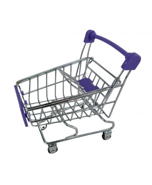 Wózek Sklepowy dla lalek na zakupy 12 cm fioletowy